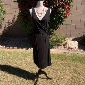 Ann Taylor Black V-Neck Dress—Size 8!!